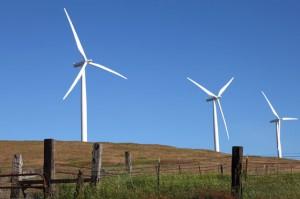 Three wind machines in Eastern Washington