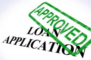 An Approved stamp over type that says Loan Application