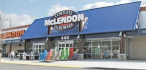 Exterior view of a McLendon Hardware store