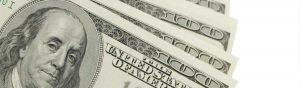 $100 dollar bills in a fan