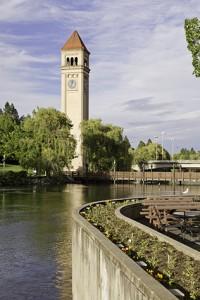 The clock tower in Spokane, Washington