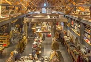 Interior of the new Filson outdoor clothing and supply store in Seattle