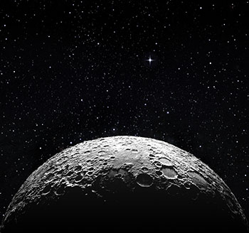 Moon-surface in space
