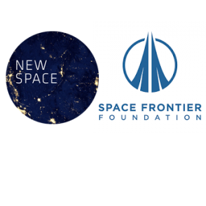 The New Space and Space Frontier Foundation logos