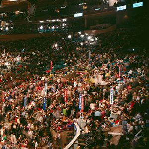 Delegates waiting for the presidential convention to begin