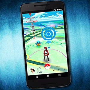 Screen shot of Pokemon Go on a smartphone