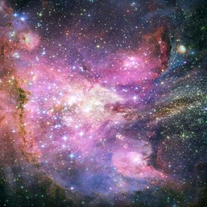 A Hubble telescope image of part of the universe