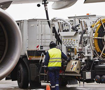 Biofuels pumped aboard a passenger plane