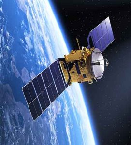 A satellite orbits the earth