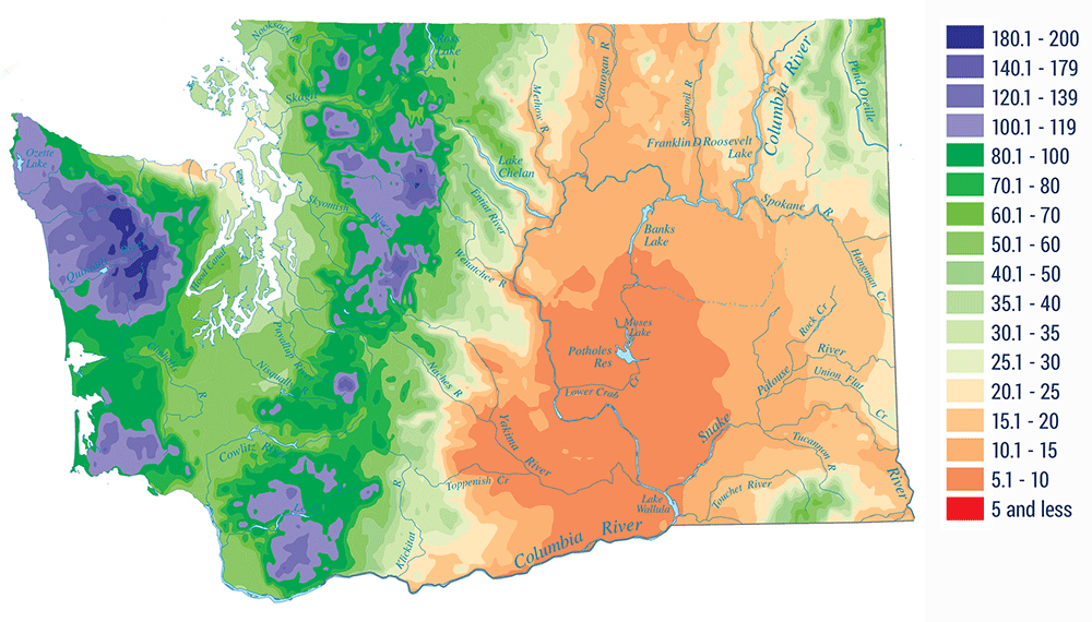 The Amazingly Diverse Climate And Geography Of Washington State - Map eastern washington