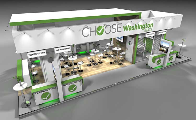 An artist's rendition of the proposed Washington State Pavilion for the 2017 Paris Air Show