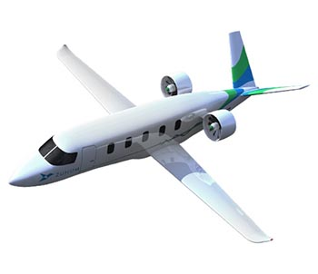 Zunum Aero hybrid electric airplane