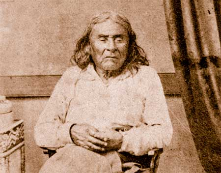 The only known photo of Chief Seattle.