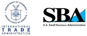 Logos for the US Small Business Administration and the International Trade Association