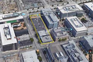 An overhead view of Google's planned expansion in the South Lake Union area.