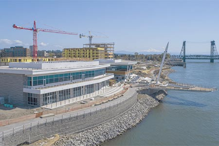 The first phase of The Waterfront project in Vancouver takes shape.