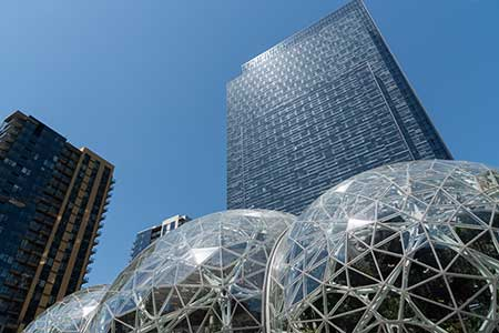 Amazon's headquarters in Seattle, Washington.