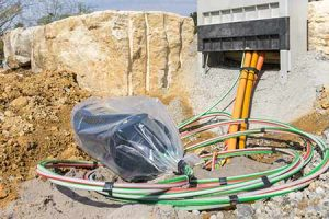 Fiber is being laid in preparation for broadband in rural communities.