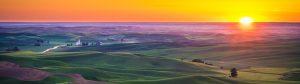 A stunning sunset in Eastern Washington's Palouse.