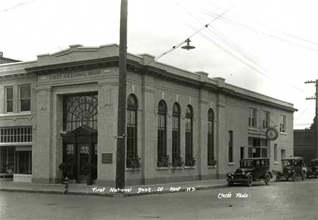 A photo of the Morrill Building in Kent, Washington shortly after it was built. The building is awaiting restoration.