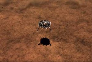 NASA's InSight Lander touches down on the surface of Mars.