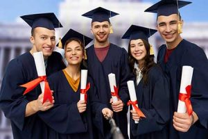College graduates ready to tackle the world.