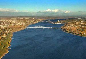 The Columbia River borders Pasco, Washington, site of a new development.