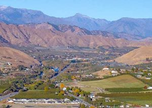 Wenatchee Valley on a sunny day.