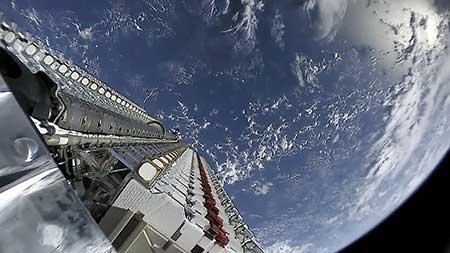 60 Starlink satellites prepare to be deployed.