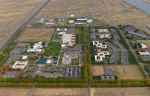 An aerial view of the Pacific Northwest National Laboratory in Richland, Washington.