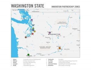 2019 map of designation Innovation Partnership Zones.