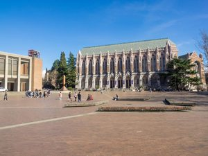 Red Square at the University of Washington