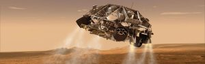 Powered by Aerojet-Rocketdyne thrusters made in Washington, Curiosity begins its final descent.