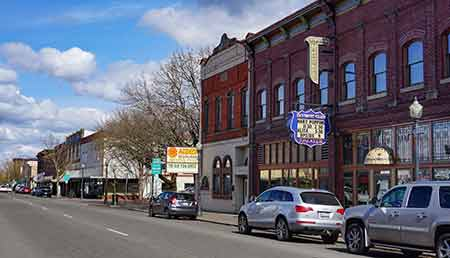 A shot of downtown Centralia, Washington