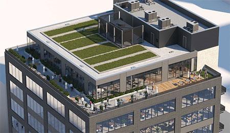 O conceito artístico do edifício Boren Lofts.