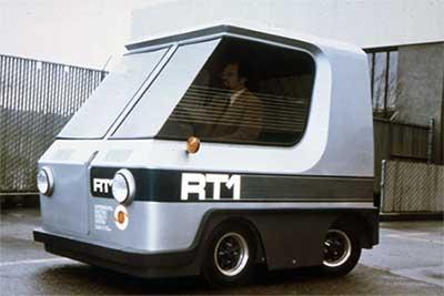 O RT1, um conceito de transporte urbano totalmente elétrico, 1968