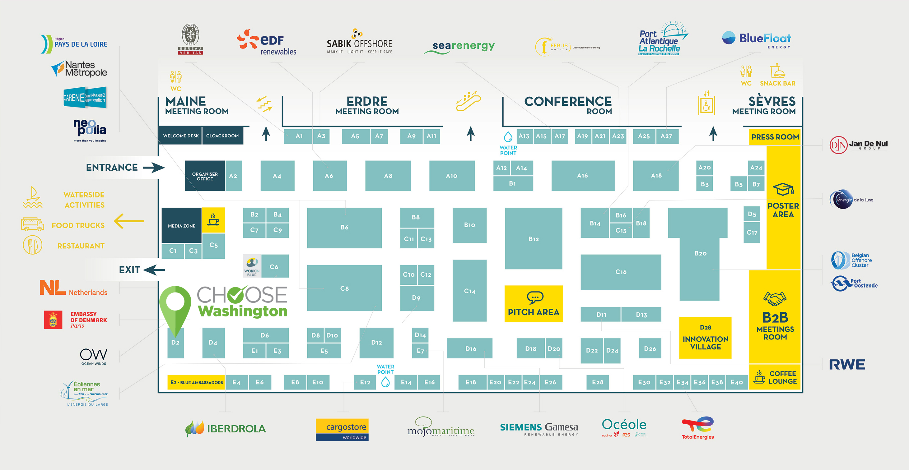 Seanergy Map - Choose Washington Booth at D2